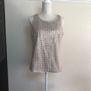 NWT White House and Black market Lace Woven Top